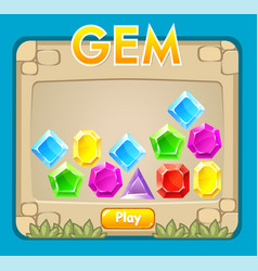 game interface gems icon collection vector image