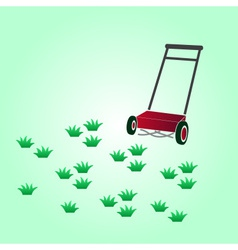Garden lawn-mower eps10 vector
