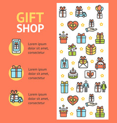 gift shop banner vecrtical vector image