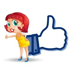 girl with thumb vector image