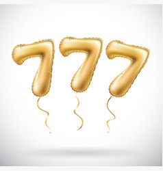 golden number 777 seven hundred and seven vector image