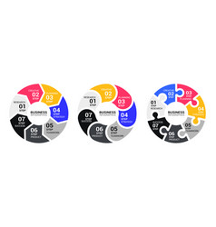 graphic round chart infographic template with a vector image