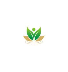 Green leaf beauty nature logo vector