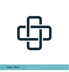 health care cross icon logo template design eps 10 vector image