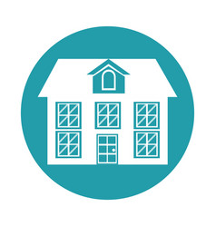 house building icon design graphic vector image