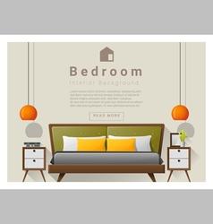 Interior design bedroom background 5 vector