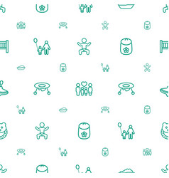 Kid icons pattern seamless white background vector