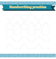 Learn shapes and geometric figures handwriting vector