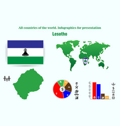 lesotho all countries of the world infographics vector image