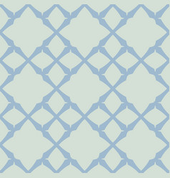 light blue geometric seamless vintage pattern vector image