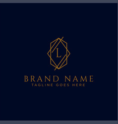 Luxury logotype premium letter l logo vector