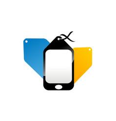 marketing via phone vector image