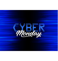 modern background design for cyber monday vector image