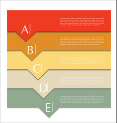 modern design abstract template 6 vector image