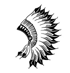 native american indian headdress graphic vector image