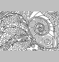 nice coloring book page with decorative spiral vector image