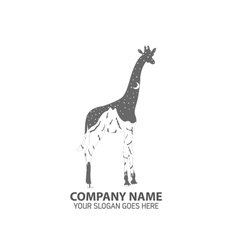 Night Giraffe Logo Icon vector image