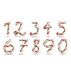 Numbers sign set 3d numerals figures 1 2 vector