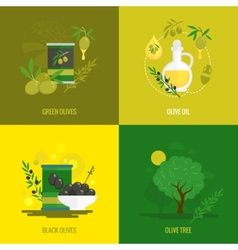 Olives mini poster set vector image