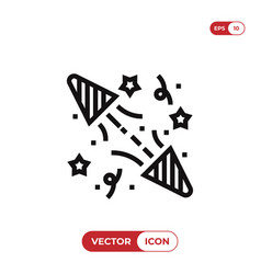 party confetti icon vector image