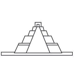 pyramid line icon sign on vector image