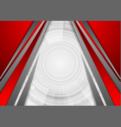 Red grey concept abstract technology background vector