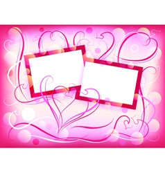 romantic vintage frames vector image