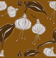 rust flowers repetition flowers modern autumn vector image