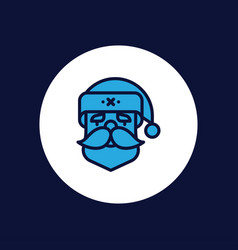 santa claus icon sign symbol vector image