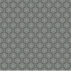 Seamless Vintage Heart Pattern vector