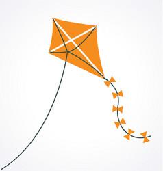 simple cartoon orange kite vector image