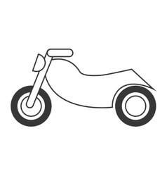 single motorcycle icon vector image