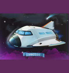 Space shuttle icon 3d vector