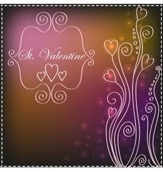 St Valentine background with patterns vector