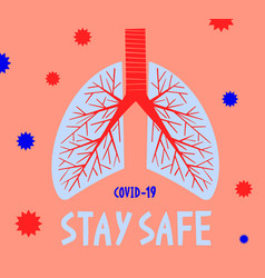 Stay safe pandemic medical concept banner with vector