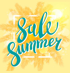 summer sale banner for business promotion and vector image