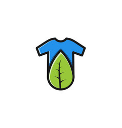 t shirt and leaf logo inspiration isolated on vector image