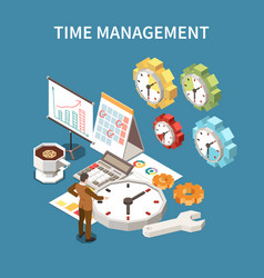 time management schedule concept vector image