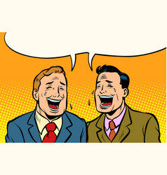 Two friends laugh vector
