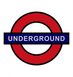 underground sign vector image