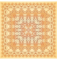 Vintage beige lacy ornate shawl pattern vector