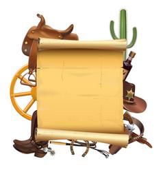 Western scroll vector
