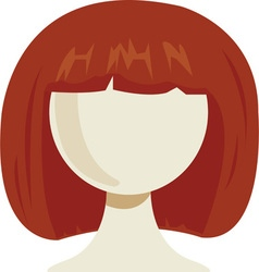 Womans wig vector