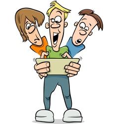 boys playing game cartoon vector image vector image