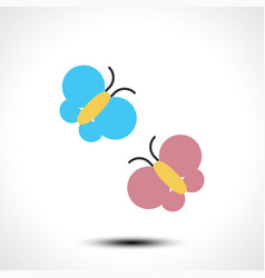 butterflies icon vector image vector image