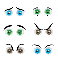 eye expressions vector image