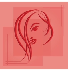 Hand drawn sketch of woman vector image