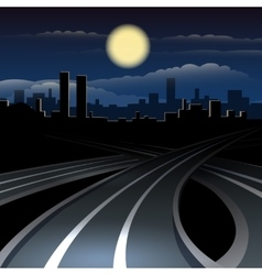 Urban night cityscape vector image
