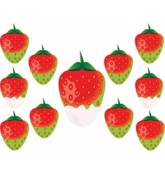 Delicious green strawberry vector image vector image