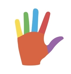 Hand with Colorful Fingers vector image vector image